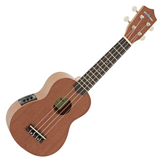 Deluxe Electro Acoustic Soprano Ukulele by Gear4music