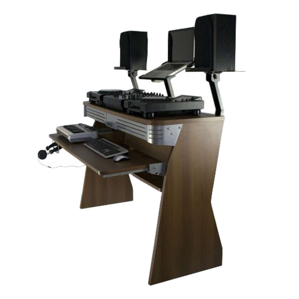 Sefour X60 Studio DJ Desk Tobacco Walnut at Gear4music