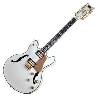 Schecter Wayne Hussey Corsair-12 Electric Guitar, Ivory