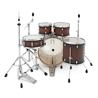 Pearl Decade Maple 22'' Fusion W/ Hardware Pack, Satin Brownburst