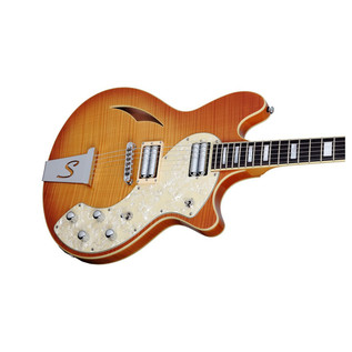 Schecter T S/H-1 Classic Electric Guitar, Vintage Natural Burst
