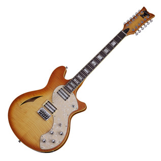 Schecter T S/H-12 Classic Electric Guitar, Vintage Natural Burst