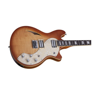 Schecter T S/H-12 Classic Electric Guitar, Natural Burst