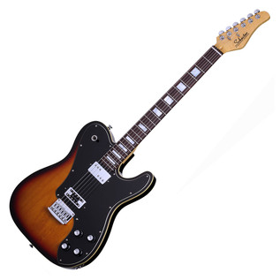 Schecter PT Fastback Electric Guitar, 3-Tone Sunburst