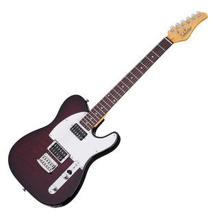 Schecter PT Custom Electric Guitar,Black Cherry Burst