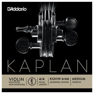Daddario Kaplan Golden Spiral Violin E String, None-Whistling, Ball