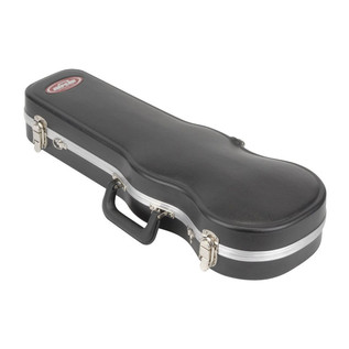 SKB 1/4 Violin Deluxe Fitted Case - Angled Closed