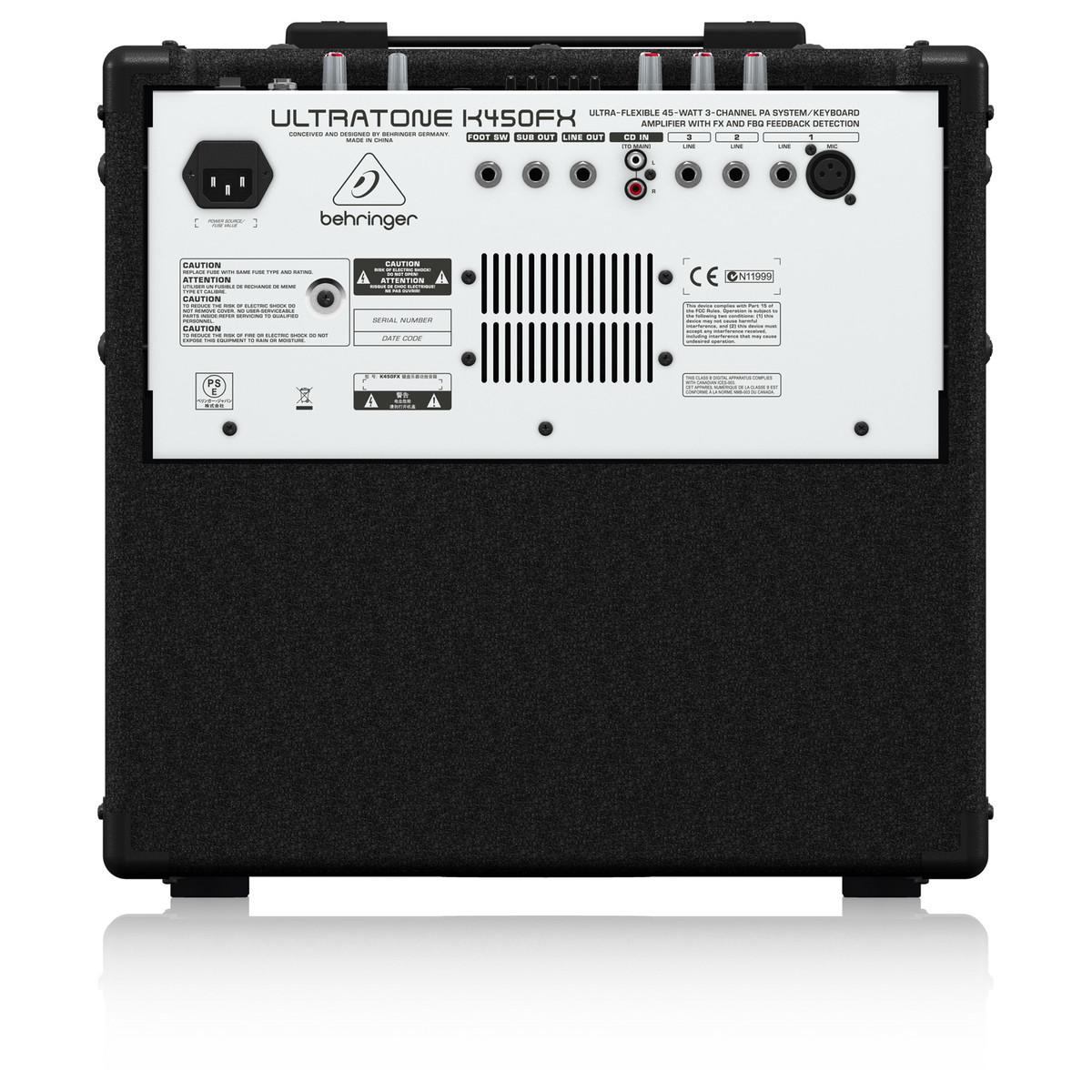 behringer k450fx ultratone keyboard amp at. Black Bedroom Furniture Sets. Home Design Ideas