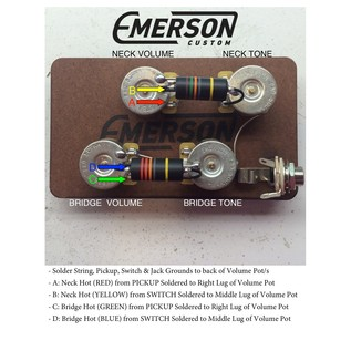 Emerson Custom Deluxe Prewired Kit, 1MEG