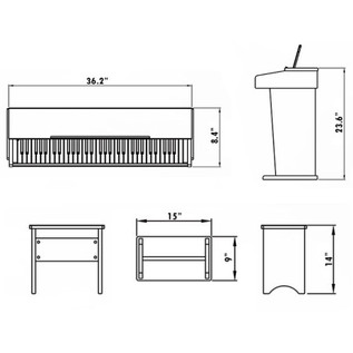 Dimensions: DP-1 Piano