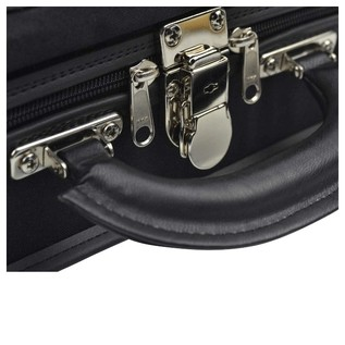 Negri Venezia Violin Case in Black and Burgundy