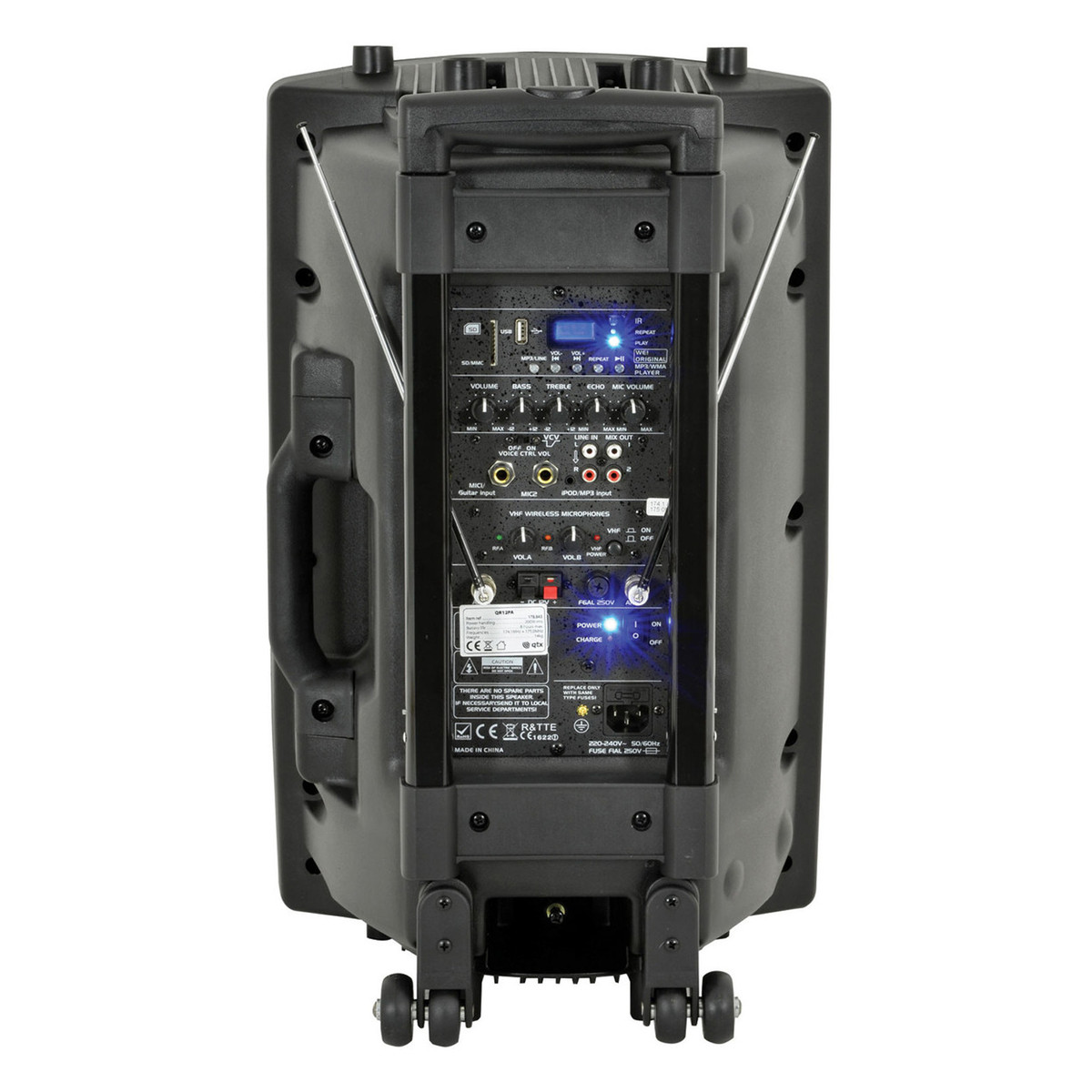qtx qr15pa portable pa system with wireless mics b stock at. Black Bedroom Furniture Sets. Home Design Ideas