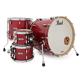Pearl Masters Maple Complete 22'' Shell Pack, Inferno Red Sparkle