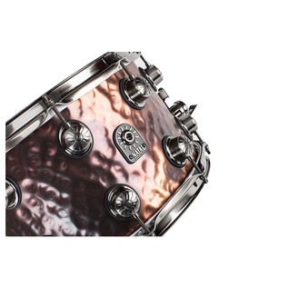 Natal Steel Hammered 14x6.5 Snare Drum w/ Brushed Nickel Hardware