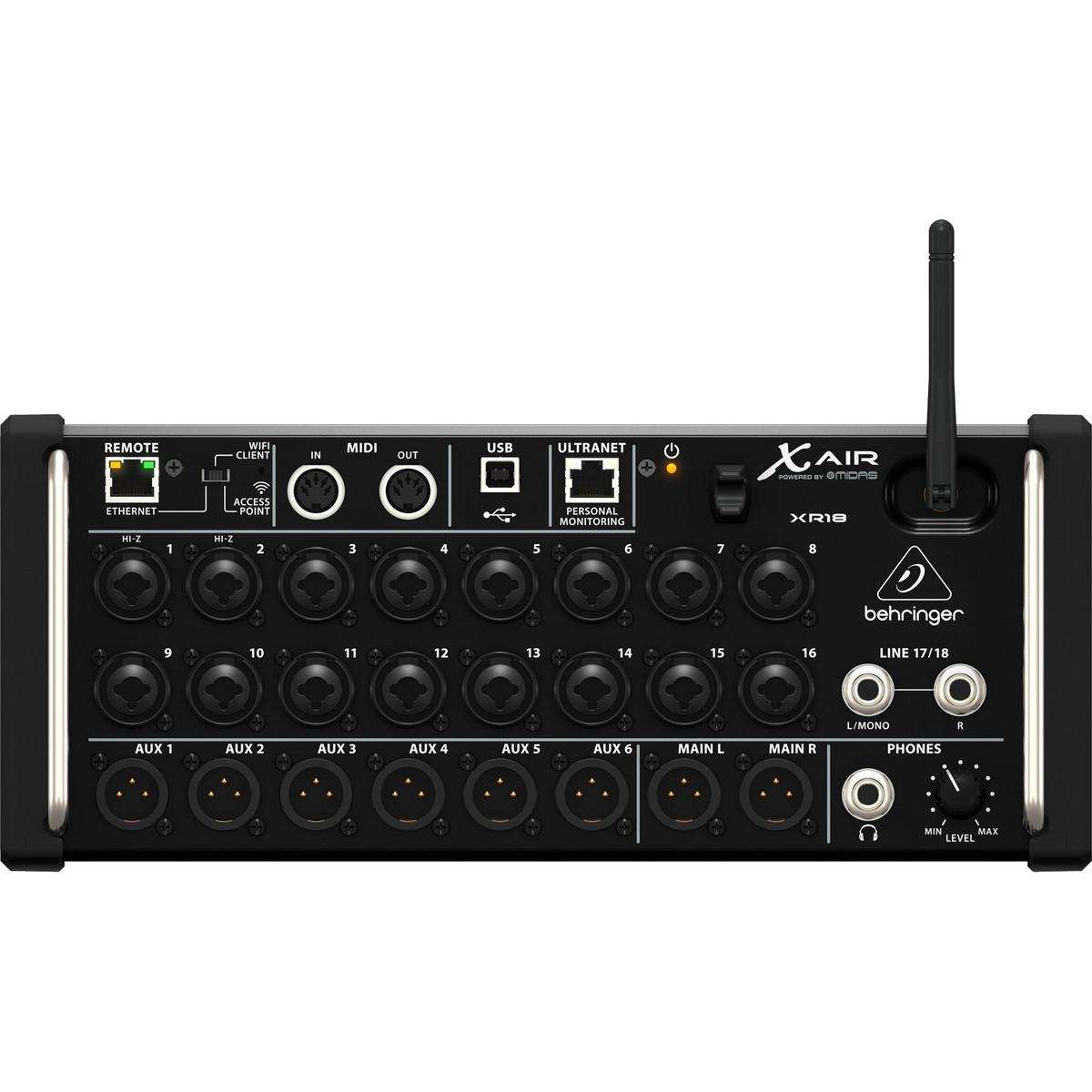 Behringer x air console de mixage num rique xr18 b stock - Console numerique behringer ...