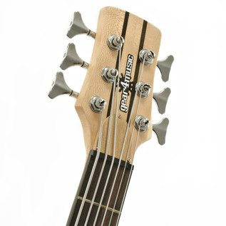 Oregon 6 String Neck Thru Bass Guitar by Gear4music, Natural
