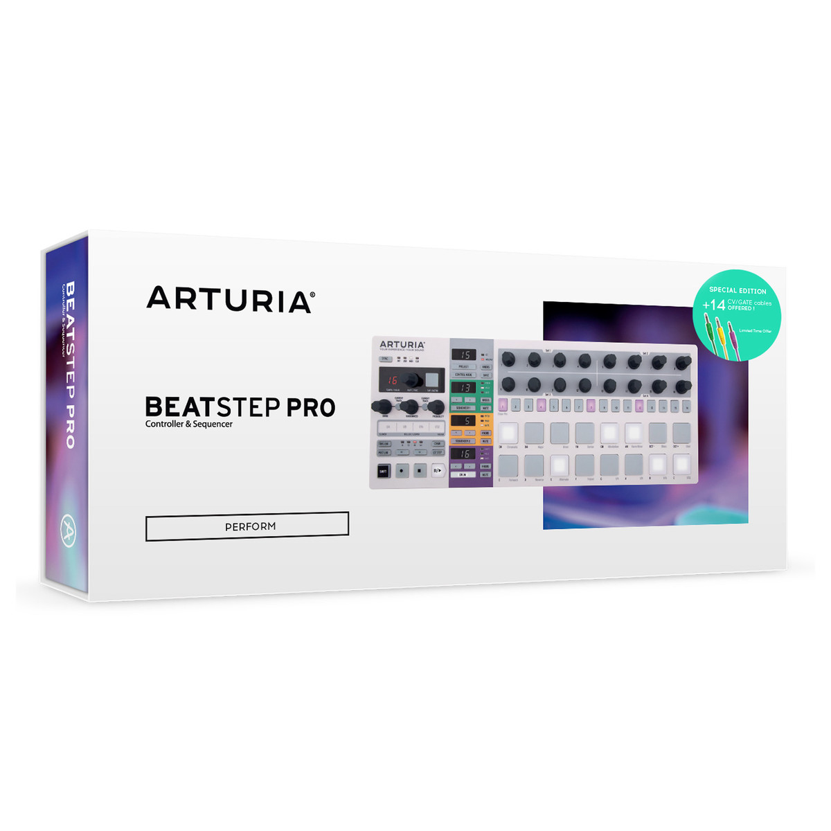 arturia beatstep pro dynamic sequencer with free cv  gate cable pack at gear4music com