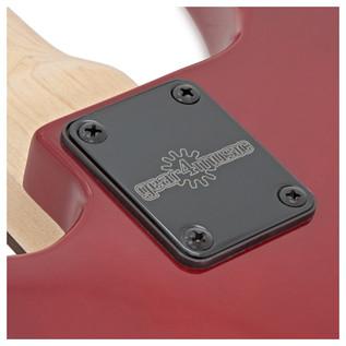 Lexington 5 String Bass Guitar by Gear4music, Trans Red