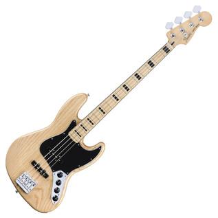 Fender Deluxe Active Jazz Bass Guitar, Natural