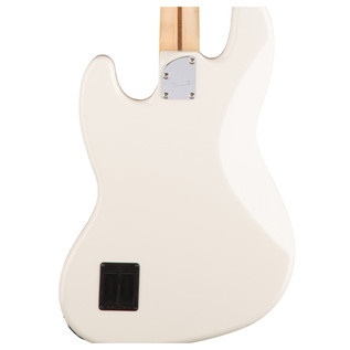Fender Deluxe Jazz Bass Guitar, Olympic White