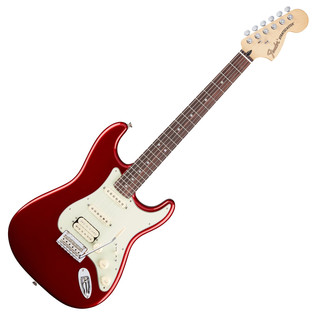 Fender Deluxe Stratocaster HSS Electric Guitar, Candy Apple Red