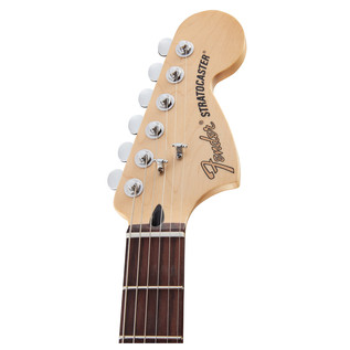 Deluxe Stratocaster HSS Electric Guitar, Red