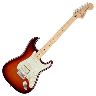 Fender Deluxe Stratocaster HSS Electric Guitar, Tobacco Sunburst