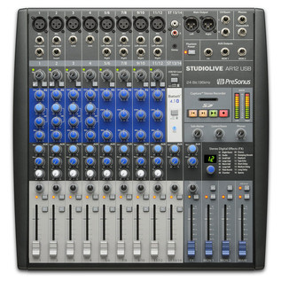 PreSonus StudioLive AR12 USB Mixer - Top View