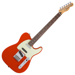 Fender Deluxe Nashville Telecaster Electric Guitar, Fiesta Red