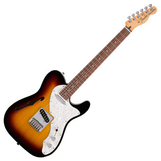 Fender Deluxe Telecaster Thinline Electric Guitar, 3-Tone Sunburst