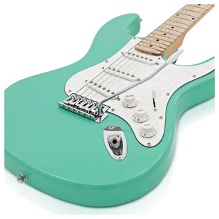 LA II Electric Guitar SSS By Gear4music, Surf Green