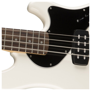 Deluxe Dimension Bass Guitar, Olympic White