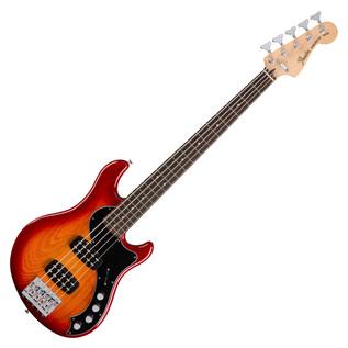 Fender Deluxe Dimension V Bass Guitar, Aged Cherry Burst