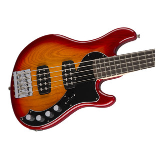 Fender Deluxe Dimension V Bass Guitar, Cherry