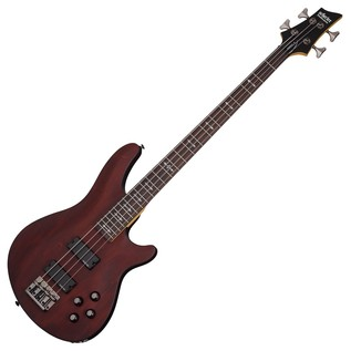Schecter Omen-4 Bass Guitar, Walnut Satin