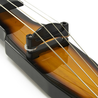 3/4 Size Electric Double Bass by Gear4music, Vintage Burst