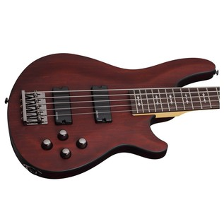 Schecter Omen-5 Bass Guitar, Walnut