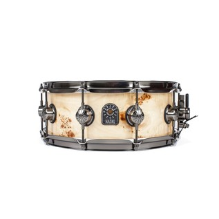 Natal Mappa Burl 13x7 Snare Drum, Brushed Nickel HW, Natural Gloss