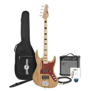 Milwaukee Bass Guitar + Amp Pack, Natural