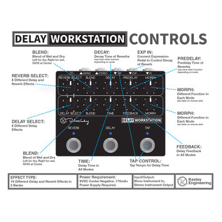 Keeley Delay Workstation Controls