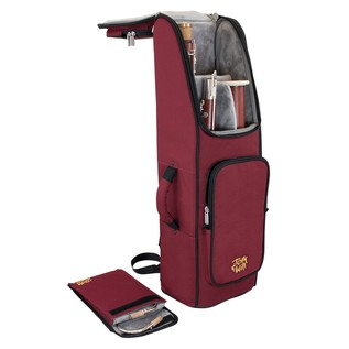 Tom and Will 36BA Bassoon Gig Bag, Burgundy and Black Trim