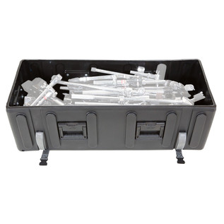 SKB Large Drum Hardware Case with Wheels - Open (Hardware Not Included)