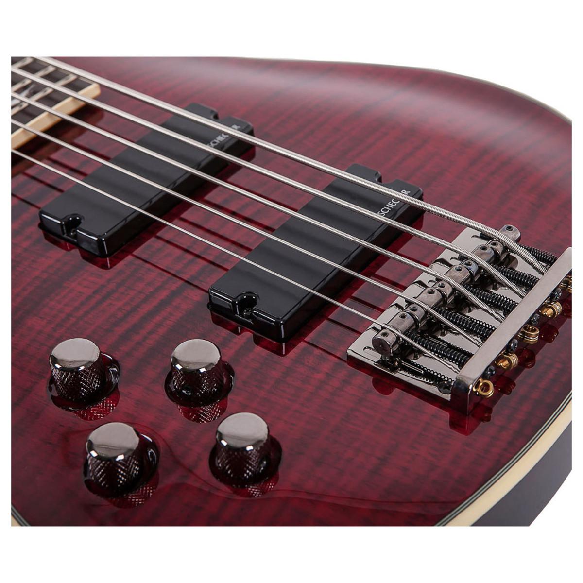 schecter omen extreme 5 left handed bass guitar black cherry at. Black Bedroom Furniture Sets. Home Design Ideas
