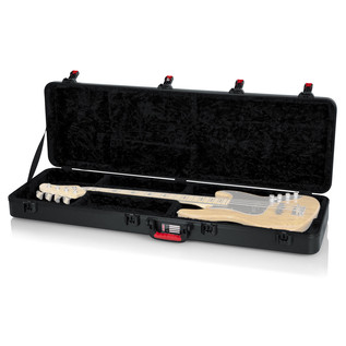 Gator ATA Moulded Guitar Case with TSA Latches for Bass Guitars - Open (Guitar Not Included)