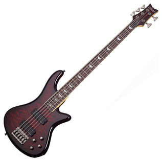 Schecter Stiletto Extreme-5 Bass Guitar, Black Cherry