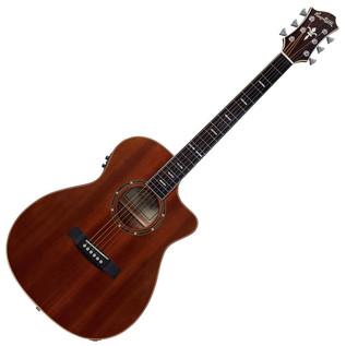 Hagstrom Mora Concert CE Cutaway Acoustic Guitar, Mahogany Gloss
