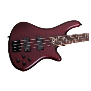 Schecter Stiletto Custom-4 Bass Guitar, Vampyre Red