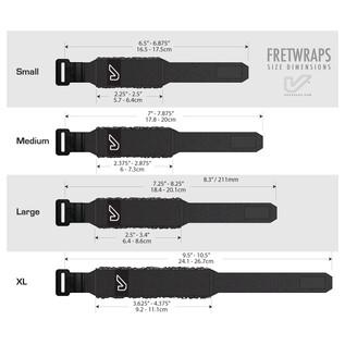 Gruv Gear FretWraps HD Flare Orange 1-Pack, Small