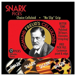 Snark Picks 0.7mm Sigmund Freud Celluloids, 12 Pack