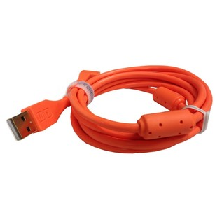 DJ Tech Tools Chroma Angled USB Cable, Orange - Angled